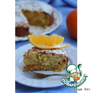 Рецепт: Апельсиновый пирог с апельсиновым джемом