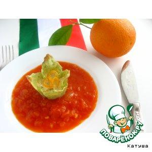 Рецепт: Фаршированные мальтальяти с томатно-апельсиновым соусом