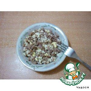 Рецепт: Салат с куриной печенью Гемоглобиновый