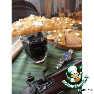 Рецепт: Пицца с карамелизованным луком и фетой