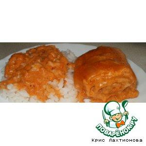 Рецепт: Томатные рулетики в томатно-сметанном соусе