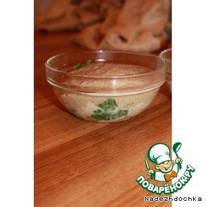 Рецепт: Тушенка из гуся с перловой кашей и грибным кремом