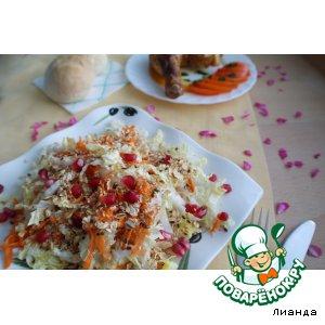 Рецепт: Салат из пекинской капусты с овсяными хлопьями