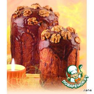 Рецепт: Кулич пасхальный с черносливом и курагой