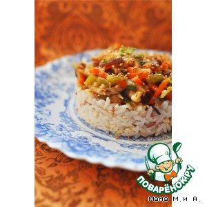 Рецепт: Курица с овощами по-китайски