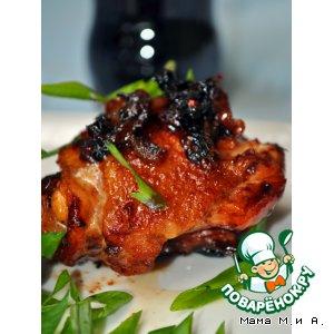 Рецепт: Курица в кока-коле с карамелизованным луком по-шанхайски