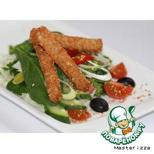 Рецепт: Витаминный салат с овсяными палочками