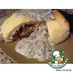 """Рецепт: Рулет картофельный с мясом """"Нежный"""""""