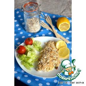 Рецепт Запеченное рыбное филе под хрустящей овсяно-лимонной корочкой