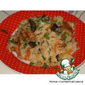 Рецепт: Грибной плов с овощами