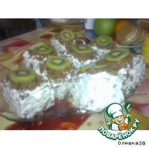 "Рецепт: Пирожное ""Кабардиночка"""
