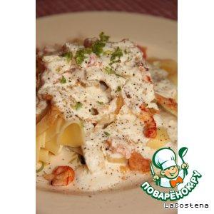 Рецепт: Паппарделле с морепродуктами и фенхелем