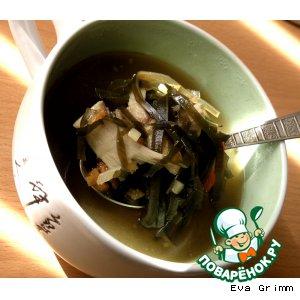 """Рецепт: Суп """"Шиитаке"""" с морской капустой"""