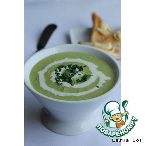 Рецепт: Крем-суп из зеленого горошка