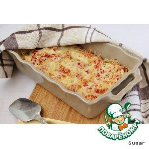 Рецепт: Каннелони с курицей и шпинатом