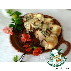Рецепт: Коронная пицца с грушей