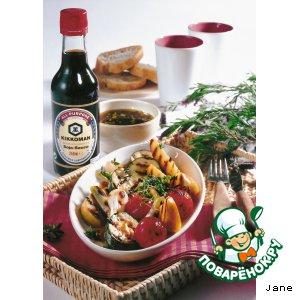 Рецепт: Овощи-гриль с лимонно-соевым соусом