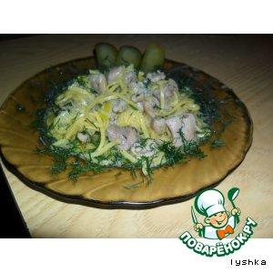 Рецепт: Паста из курицы в сливочном соусе