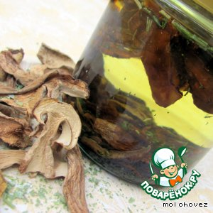Рецепт: Ароматизированное масло на сухих белых грибах