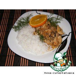 Рецепт: Жаркое из кролика в мятно-апельсиновом соусе