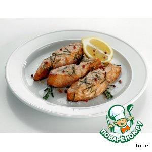 Рецепт: Шашлык из рыбы