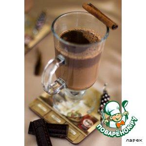 Рецепт: Карамельно-коричный горячий шоколад