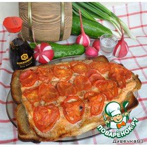Рецепт: Горбуша, запеченная на решетке с хлебом