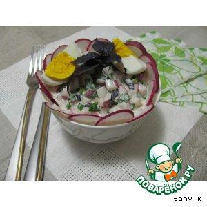 Рецепт: Салат с редисом и базиликом