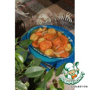Рецепт: Тофу с овощами и с соевым соусом Kikkoman