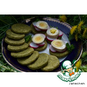 Рецепт: Петрушкины лепешки и Shoyu Tamago