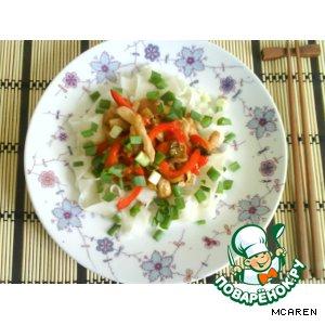 Рецепт: Курочка с овощами в устричном соусе