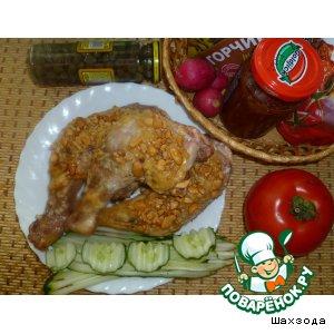 Рецепт: Куриные окорочка Ореховые в соевом соусе