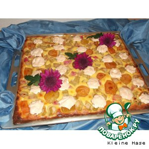 Рецепт: Абрикосово-ревеневый пирог