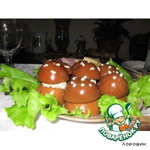 Рецепт: Фаршированные грибы из яиц
