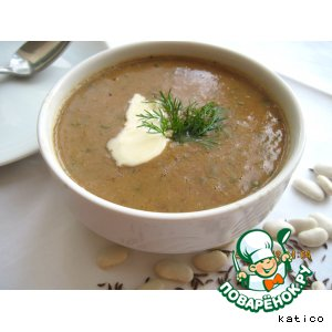 Рецепт: Суп-пюре из фасоли