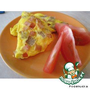 Рецепт: Горячий бутерброд-омлет в сендвичнице