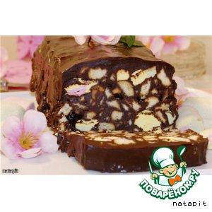 Рецепт: Быстрый десерт без выпечки Шоколадный террин