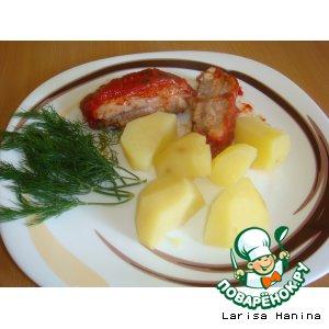 Рецепт: Свиные ребрышки в томатно-медовом соусе