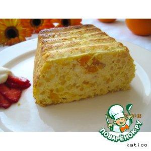 Рецепт: Апельсиновая запеканка из творога и саго