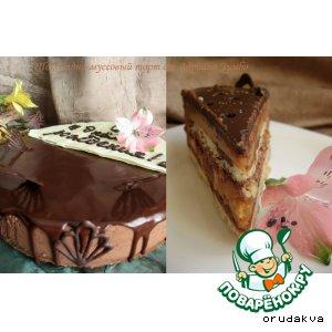 Рецепт: Шоколадно-муссовый торт от Адриано Зумбо