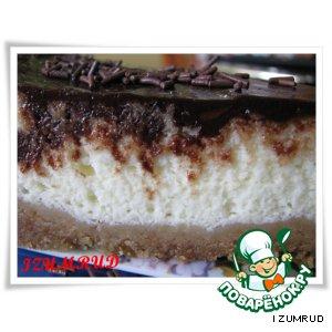 Рецепт: Чизкейк ванильно-шоколадный