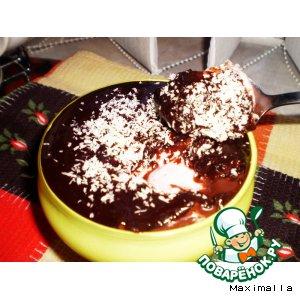 """Рецепт: Десерт """"Клубничный крем в шоколаде"""""""
