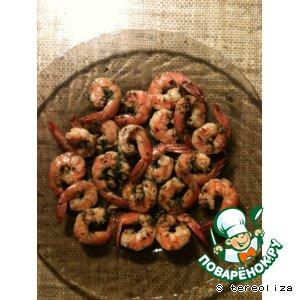 Рецепт: Креветки в соусе