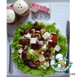 Рецепт: Салат со свекольным желе -кг
