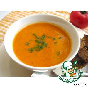 Рецепт: Томатный суп-пюре с нутом