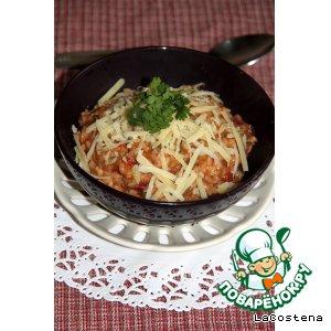 Рецепт: Томатное ризотто с креветками