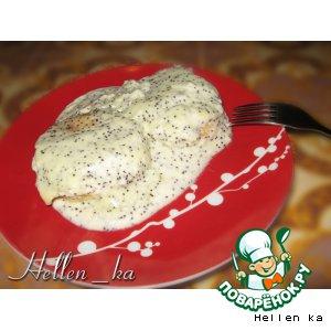 Рецепт: Сырнички под сметанно-маковым кремом