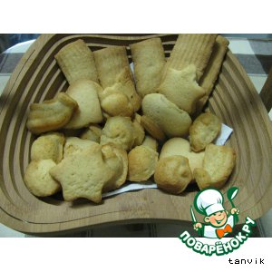Рецепт Песочное печенье с кукурузными хлопьями