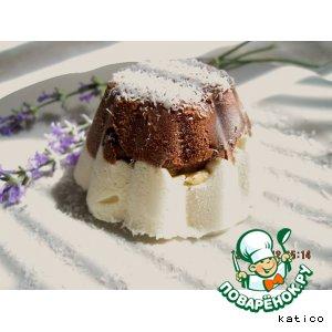 Шоколадно-кокосовый десерт-мороженое