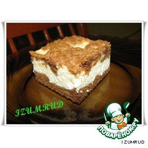 Рецепт: Творожный пирог с какао